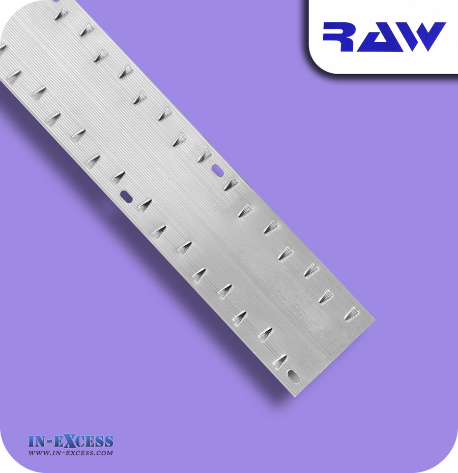 RAW Aluminium Carpet Strip Dual Grip Standard - Silver