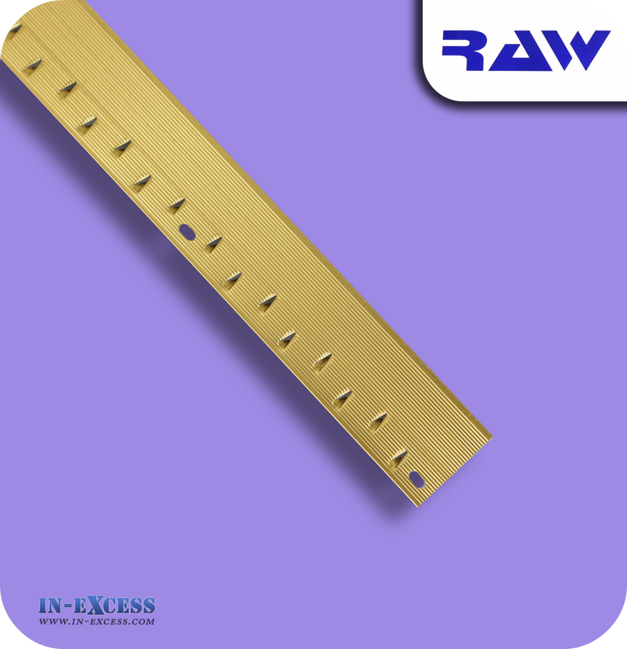 RAW Aluminium Carpet Strip Nap Trim Standard - Gold (M202)