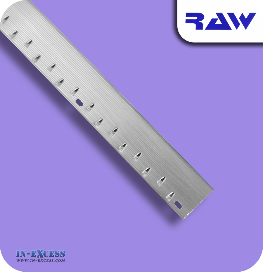 RAW Aluminium Carpet Strip Nap Trim Standard - Silver M102