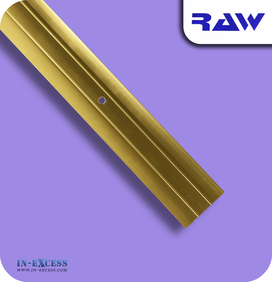 RAW Aluminium Commercial Cover Plate - Gold (M208)