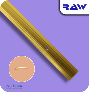 RAW Aluminium Tile & Vinyl Edge Medium - Gold (M205)