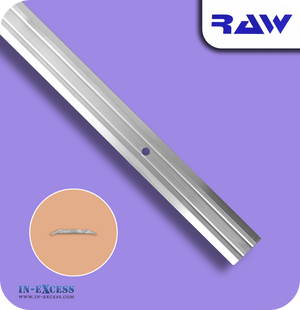 RAW Aluminium Vinyl Lino Cover Strip - Silver (M107)