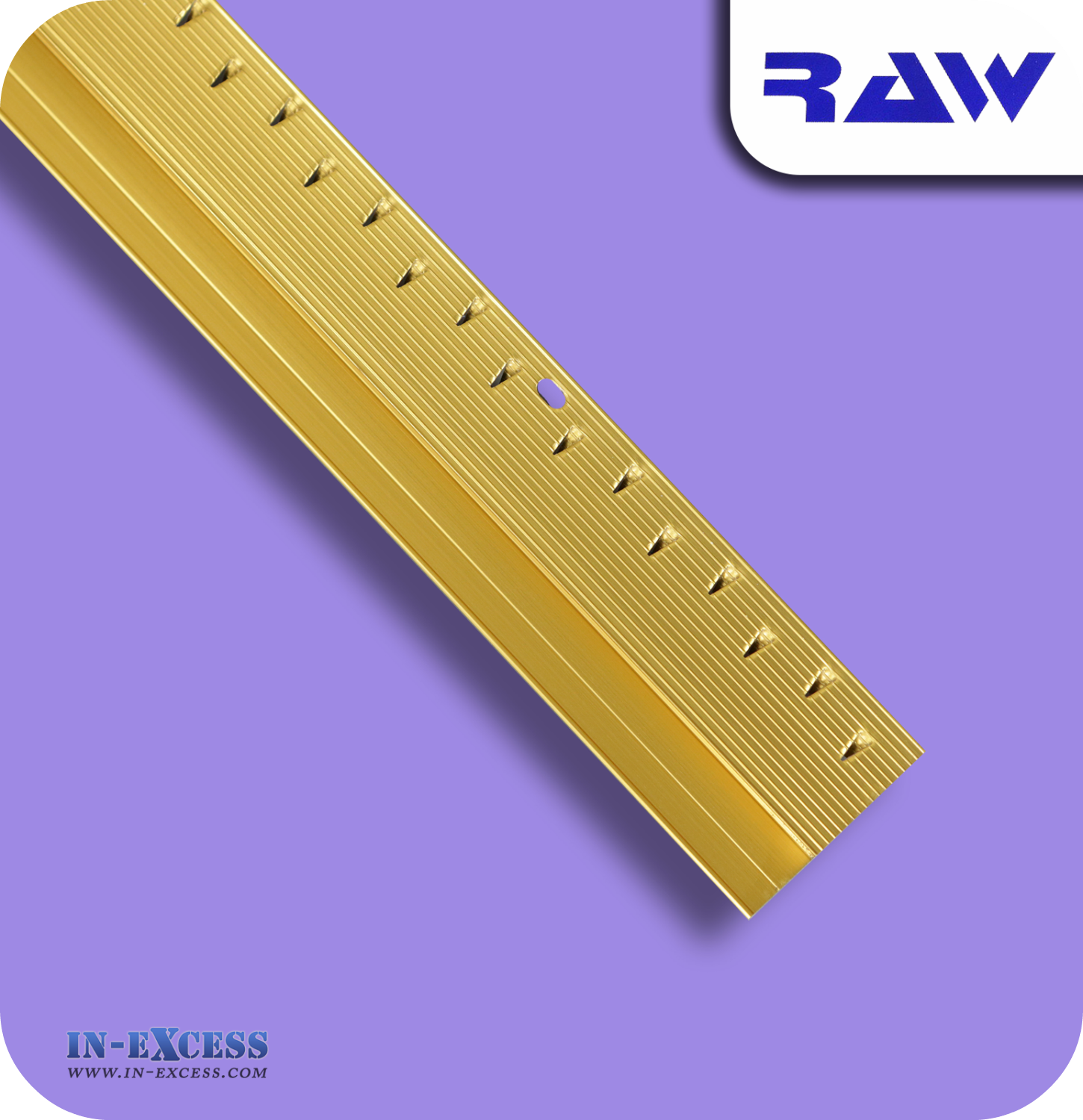 RAW Aluminium Z Section Carpet to Hard Floor Strip - Gold (M230) - In-Excess Direct