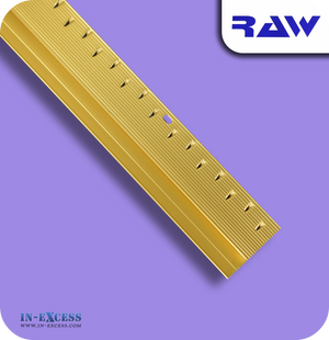 RAW Aluminium Z Section Carpet to Hard Floor Strip - Gold
