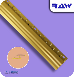RAW Aluminium Z Section Carpet to Hard Floor Strip - Gold (M230)