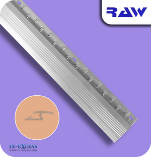RAW Aluminium Z Section Carpet to Hard Floor Strip - Silver (M130)