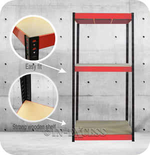 RB Boss Bolt-less Free Standing Garage Shed Shelving Unit - 1800 x 900 x 300mm (300kg)