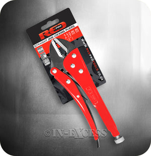 "Red Pro Tools Straight Jaw Locking Handheld Adjustable Pliers - 10"" (250mm)"