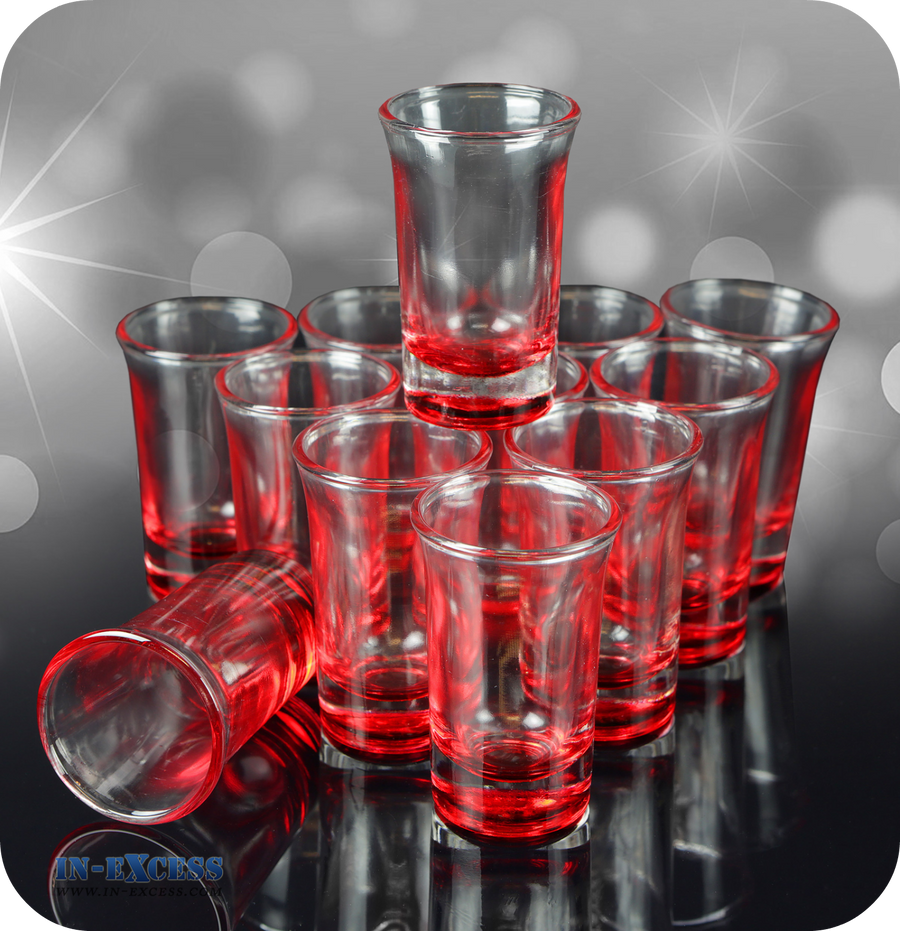 Red Tinted Shot Glass
