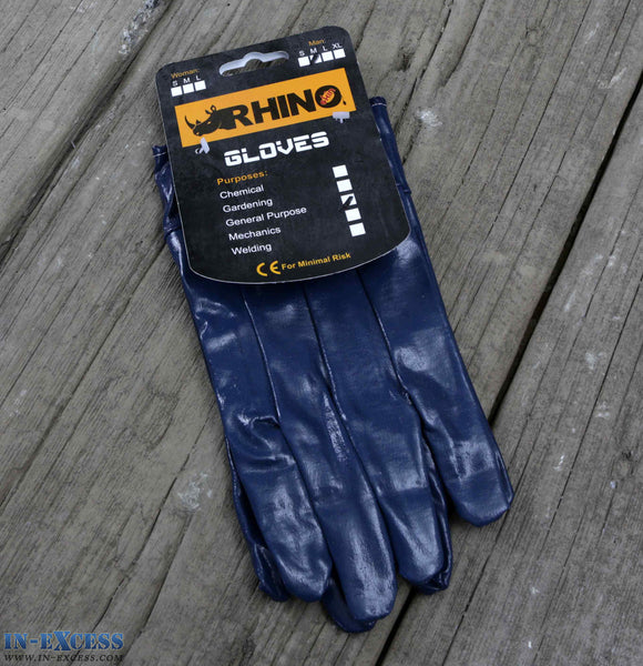 Rhino General Purpose Rubber Gloves - Medium