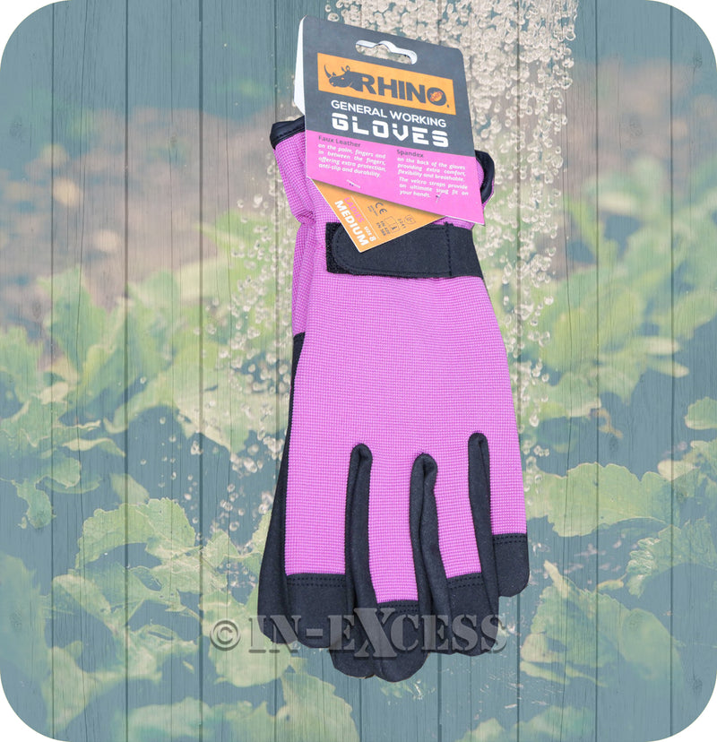 Rhino Skin General Multi-Purpose Garden Gardener's Working Gloves - Ladies Medium