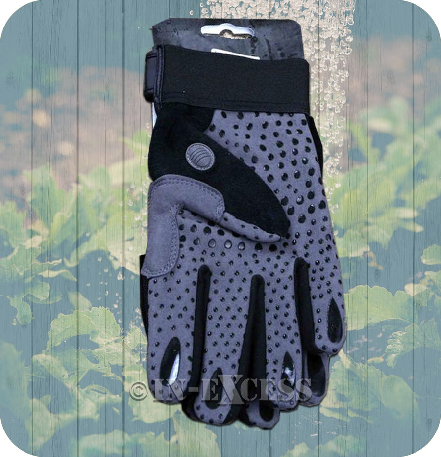 Rhino Skin General Purpose Premium Fitted Protective Garden Gardener's Gloves - Medium