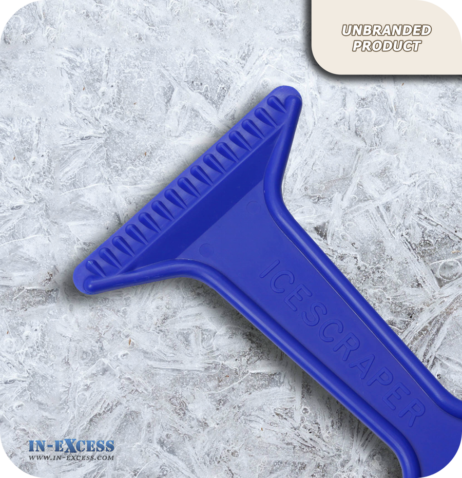 Rigid Plastic Ice-Scraper - Blue