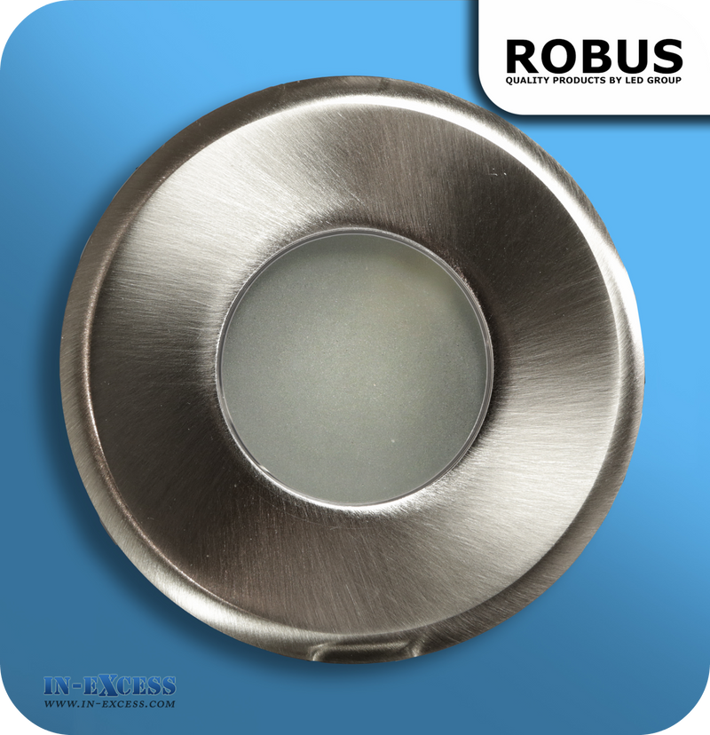 Robus 12V Fire Rated Down Light IP65 - Brushed Chrome (RFS10165-13)