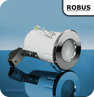 Robus 12V Fire Rated Downlight IP65 - Polished Chrome (RFS10165-03)
