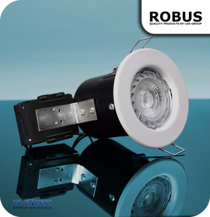 Robus 240V GU10 Fire Rated Downlight Kit - White (RFP250-01)