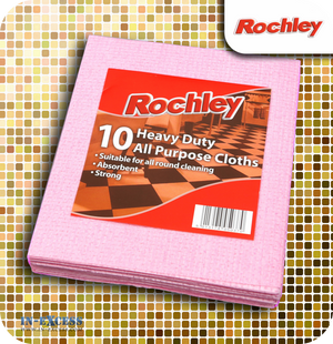 Rochley All Purpose Cloths Pink - Pack of 10