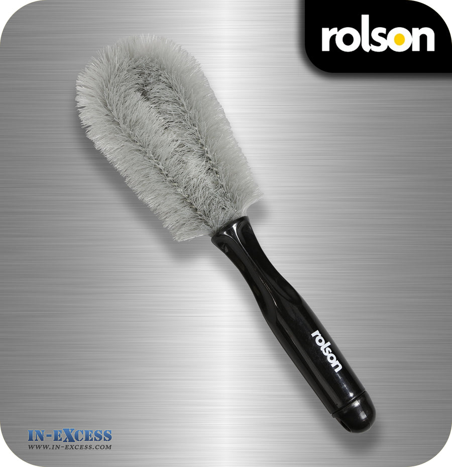Rolson Alloy Wheel Durable Stiff Cleaning Brush