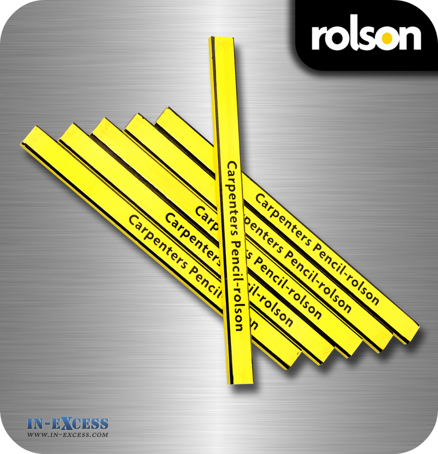 Rolson Carpenter's Pencils - Pack of 6