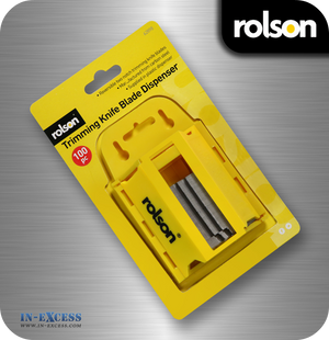 Rolson Trimming Knife Blade Dispenser - Pack of 100