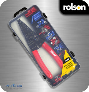 Rolson Wire Stripper With Terminal Assortment Kit - 200mm Stripper