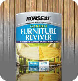 Ronseal Garden Furniture Restore Reviving Varnish - 1 Litre
