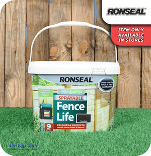 Ronseal One Coat Sprayable Fence Life - 9 Litres
