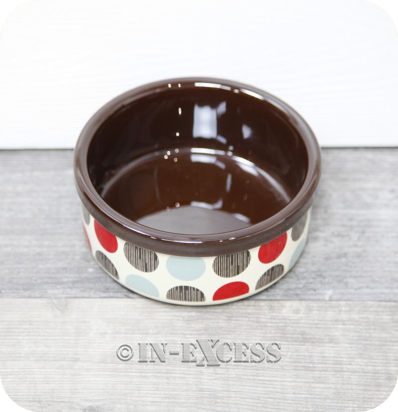 Rosewood Pet Dog Cat Food Feeding Bowl - Multi Spot