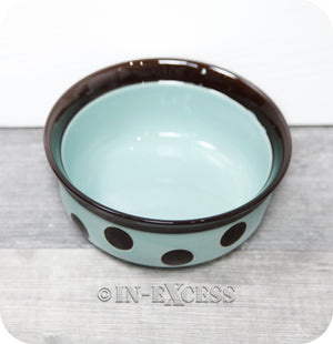 Rosewood Pet Regular Dog Cat Food Feeding Bowl - Teal Spot
