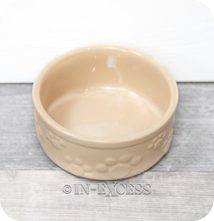 Rosewood Pet Small Dog Cat Food Feeding Bowl - Embossed Paw