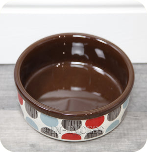 Rosewood Pet Regular Dog Cat Food Feeding Bowl - Multi Spot