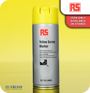 RS Acrylic Based Survey Marker - Yellow 400ml Aerosol