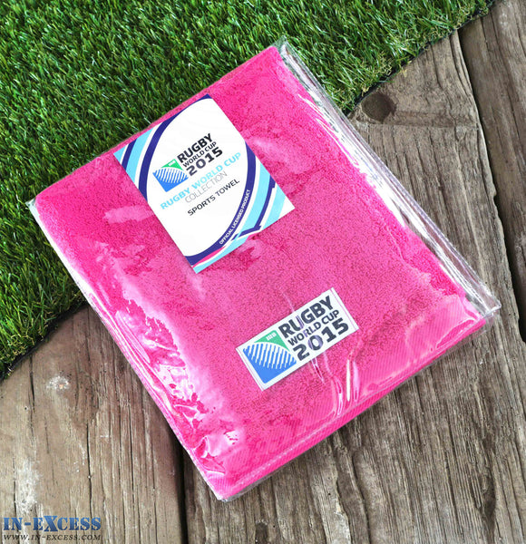 Rugby World Cup 2015 Christy Sports Quick Dry Cotton Towel Pink 40 x 90cm