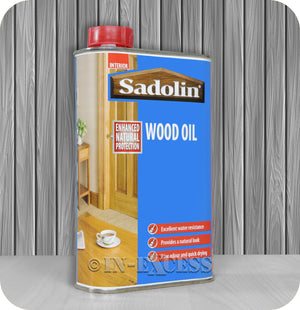 Sadolin Enhanced Natural Interior Wood Oil 500ml - Clear / Natural Finish