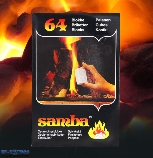 64 Samba Fire Lighter Blocks