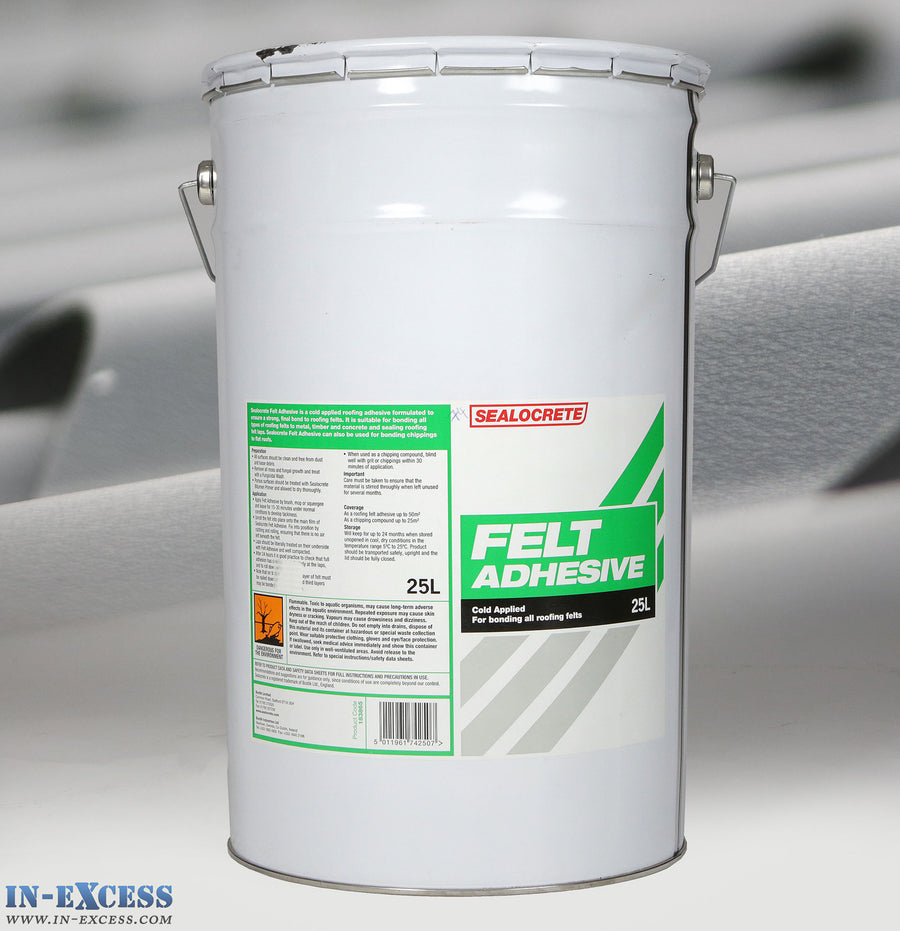 Sealocrete Felt Adhesive Cold Applied For Bonding All Roofing Felts 25L