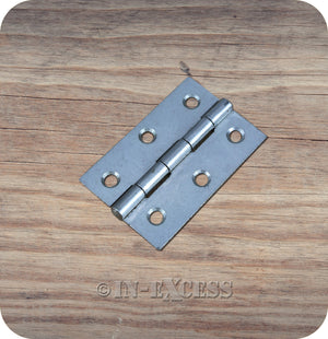 "Fixed Pin Butt Hinge Self Coloured Cupboard Cabinet Storage Box Hinge - 75mm (3"")"