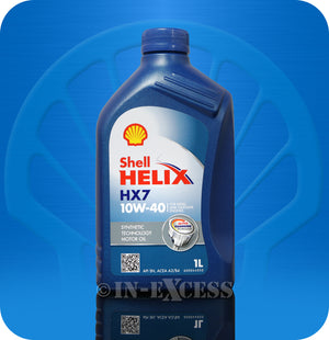 Shell Helix HX7 Oil Diesel & Petrol Engine Semi Synthetic Motor Oil 1 Litre - 10W-40