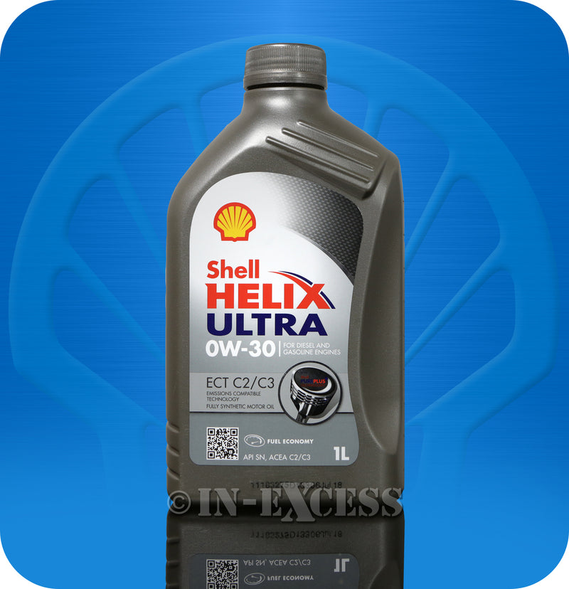 Shell Helix Ultra Oil Diesel & Petrol Engines Fully Synthetic Motor Oil 1 Litre - 0W-30 ECT C2/C3