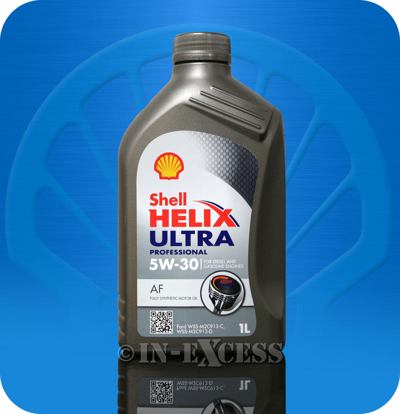 Shell Helix Ultra Oil Diesel & Petrol Engines Fully Synthetic Motor Oil 1 Litre - 5W-30 AF