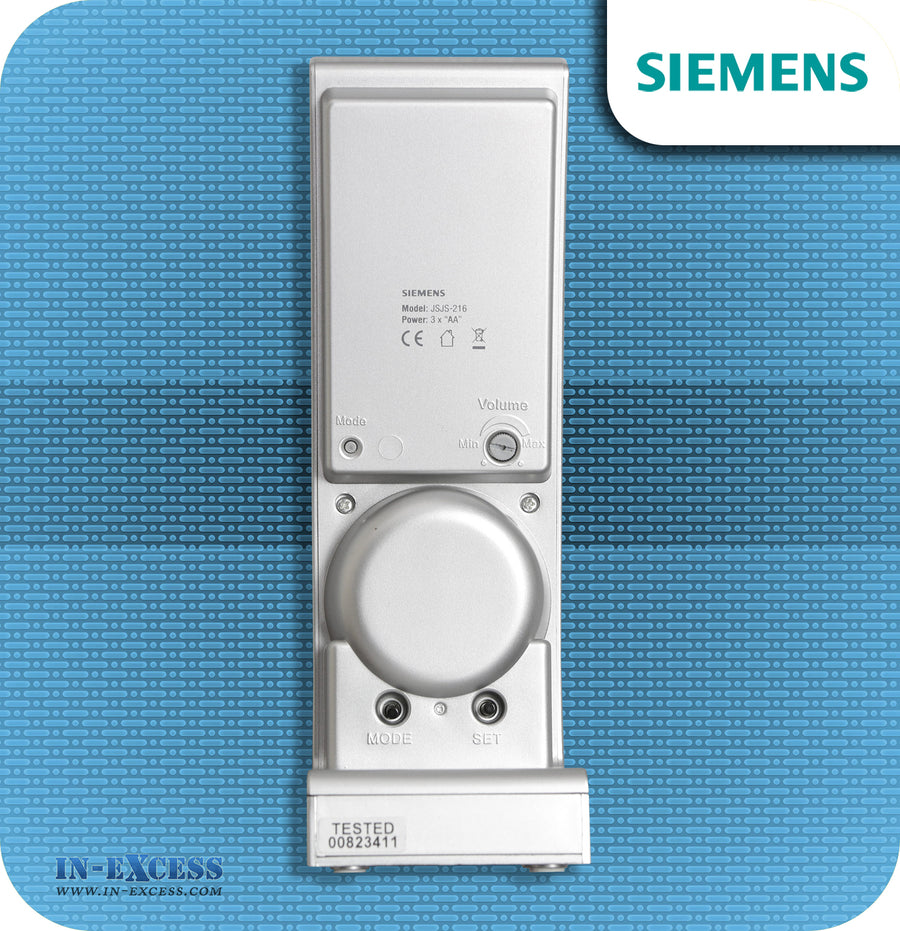 Siemens Azure Wirefree Portable Door Bell Chime Kit JSJS-216 - With JSJS-104W Bell Push