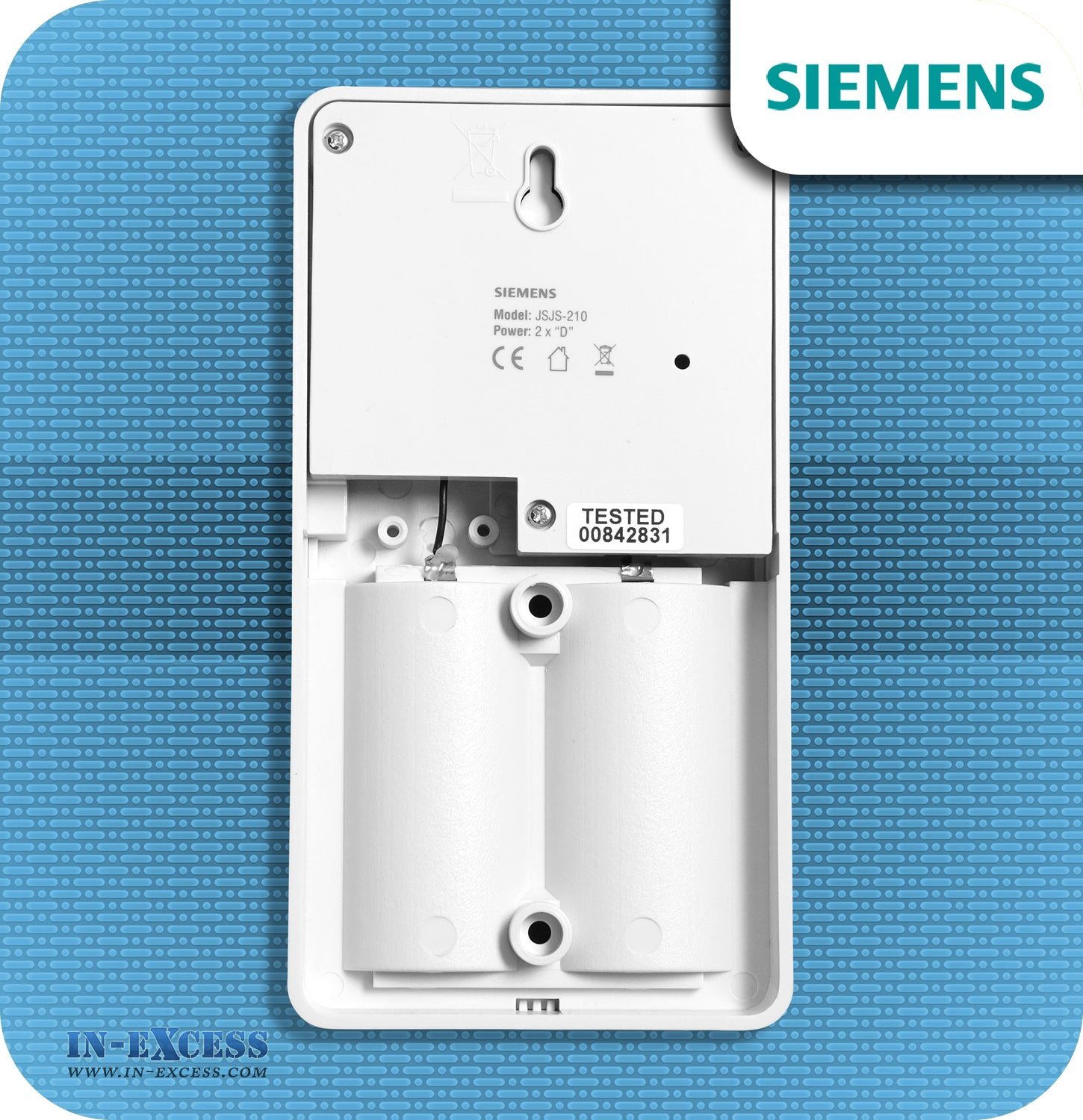 Siemens Twin Pack Wirefree Portable Door Chime with Wireless Bell Push