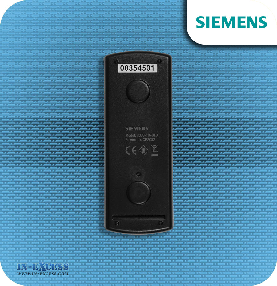Siemens Bell Push Wirefree Black Chrome Bell Push For Wireless Chimes - JSJS-104BLB (DCBP7)