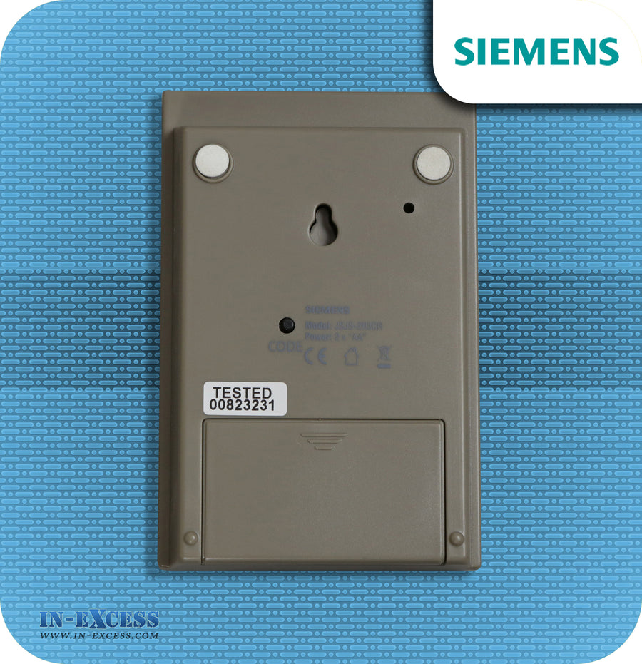 Siemens Brass Effect Taupe Wirefree Portable Door Bell Chime Kit JSJS-203CR - With JSJS-103B Bell Push