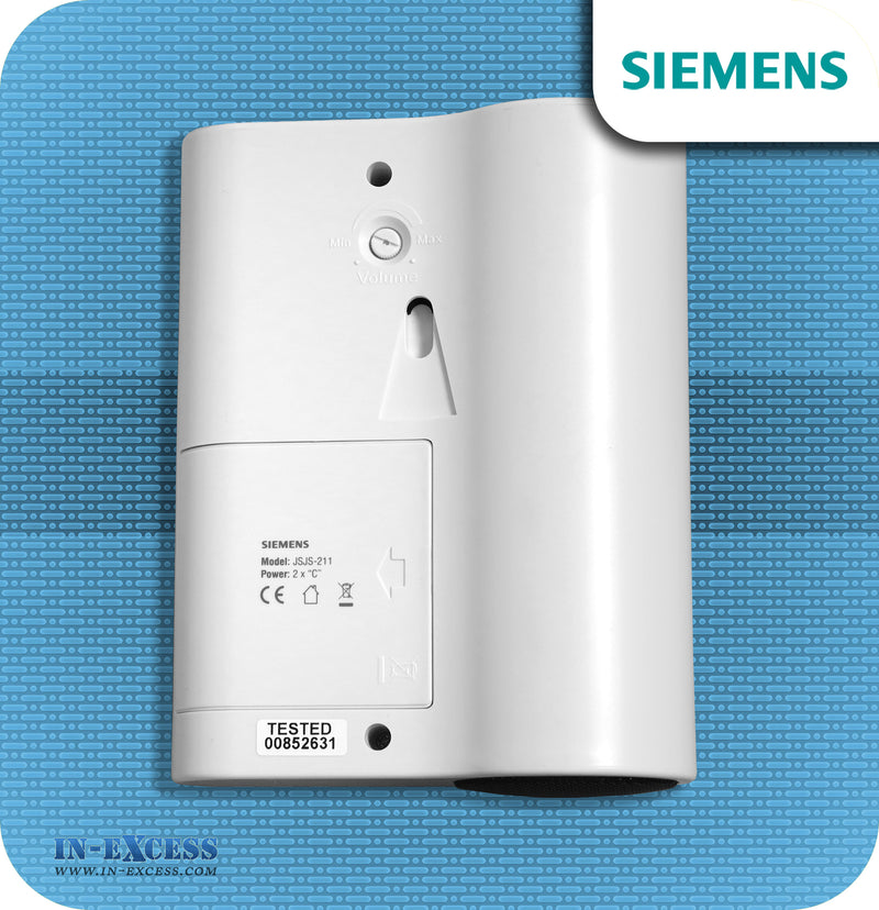 Siemens Ciao Wirefree Portable Door Bell Chime Kit JSJS-211 - With JSJS-104W Bell Push