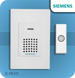 Siemens Replacement Wirefree Portable Door Bell Chime Kit JSJS-203 - With JSJS-102 Bell Push