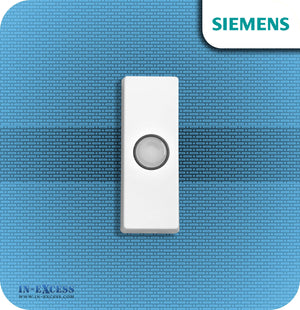Siemens Replacement Wirefree White/Black Door Bell Push For Wireless Chimes - JSJS-102
