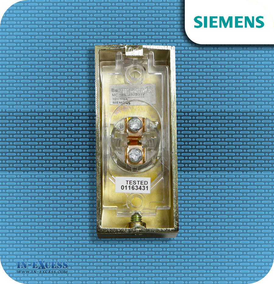 Siemens Brass Effect Wired Bell Push For Wired Door Chimes - JSJS-312 (DCW15)