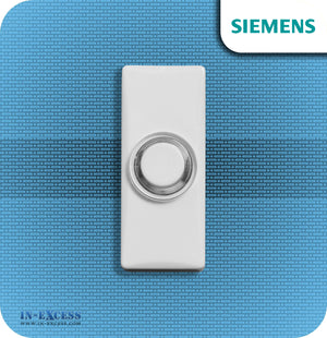 Siemens Backlit White Wired Bell Push For Wired Door Chimes - JSJS-309 (DCW12)