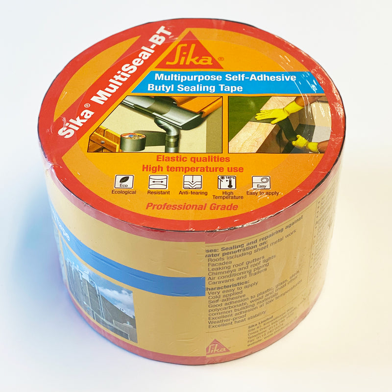 Sika MultiSeal-BT Multipurpose Self-Adhesive Butyl Sealing Tape 100mm x 10 metre roll Grey